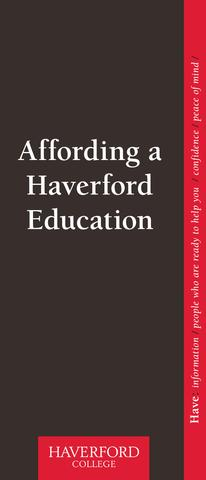Haverford Financial Aid Brochure