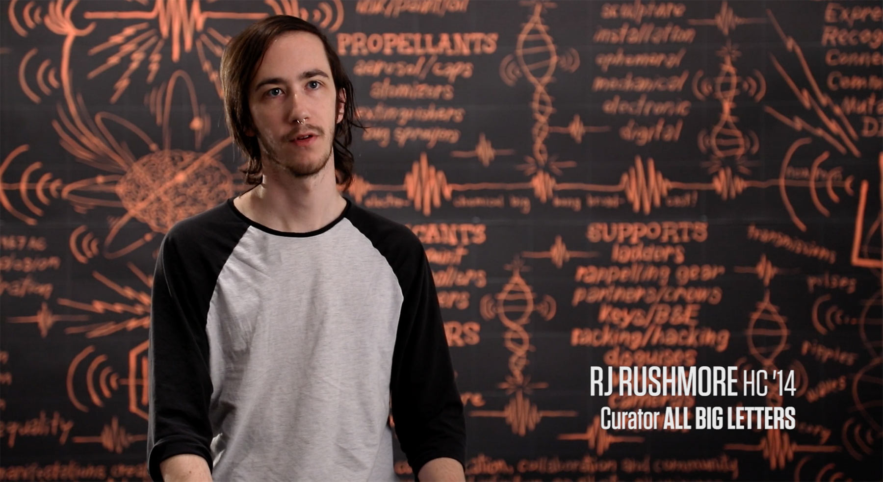 RJ Rushmore being interviewed