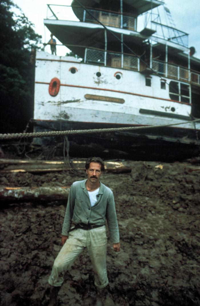 Werner Herzog on the set of Burden of Dreams