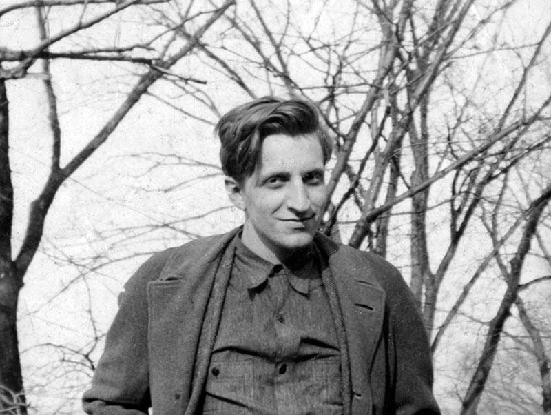 Black and white photo of Edwin Honig