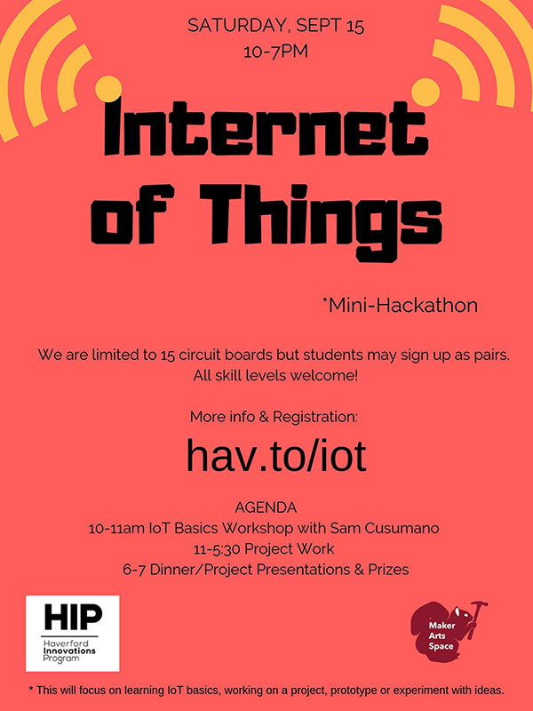 Poster for Internet of Things event