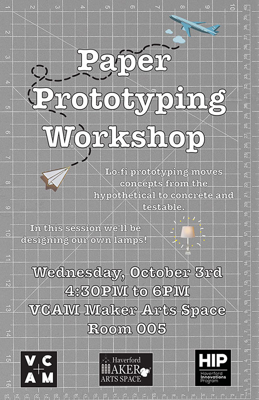 Poster for Paper Prototyping Workshop