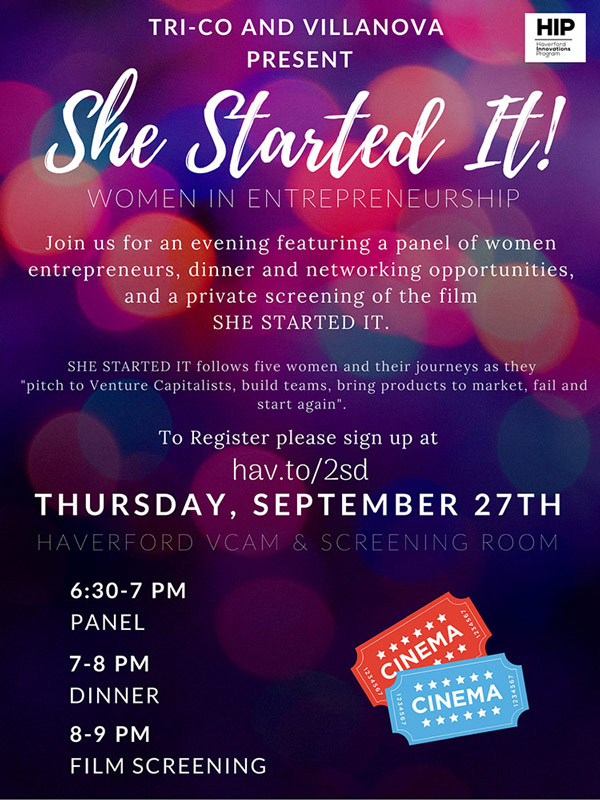 Poster for She Started It event