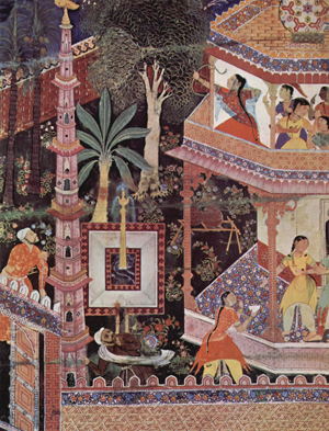 An Indian mural