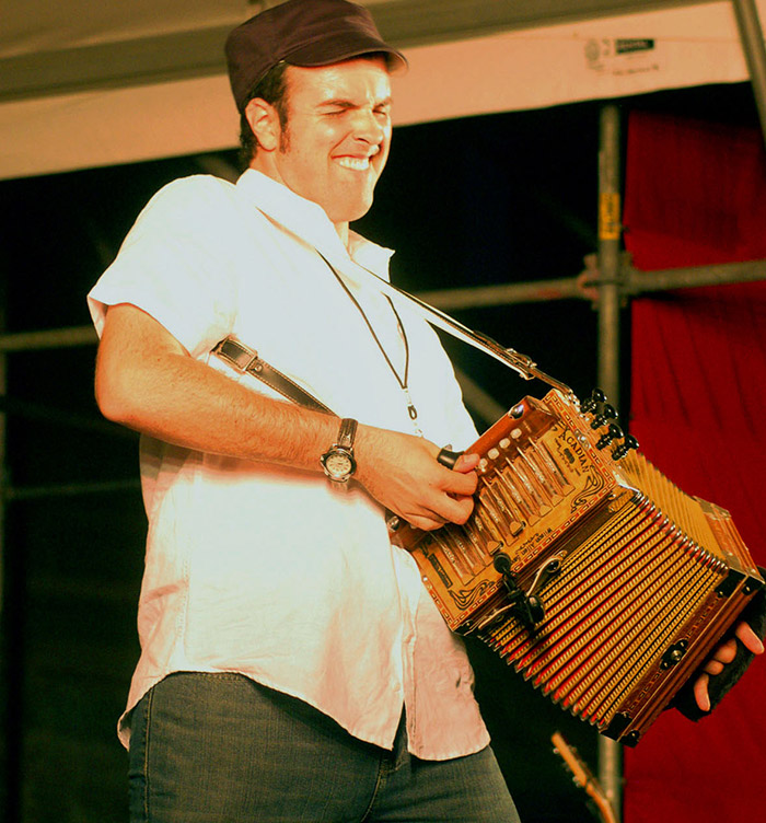 Someone rocking out on an accordion