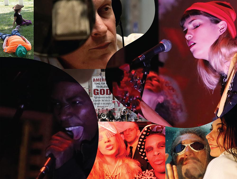 A collage of film stills showcasing performances