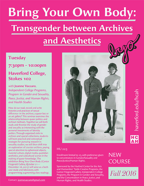 Bring Your Own Body: Transgender between Archives and Aesthetics
