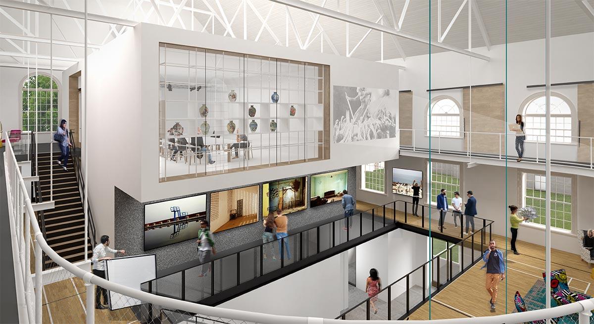 Artist rendering of eventual interior of VCAM