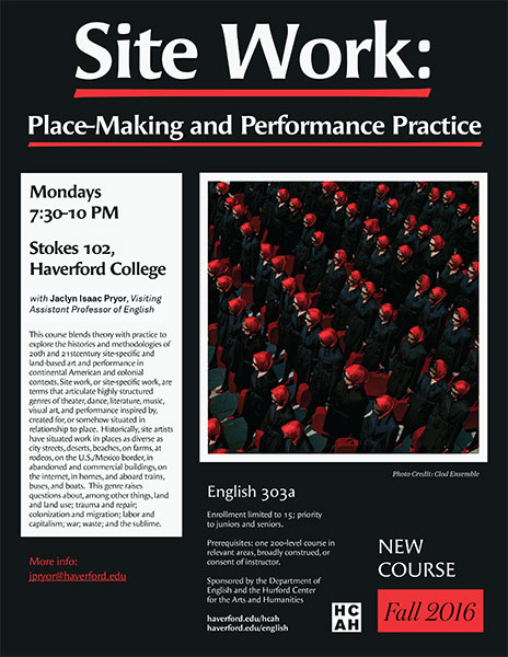 Site Work: Place-Making and Performance Practice