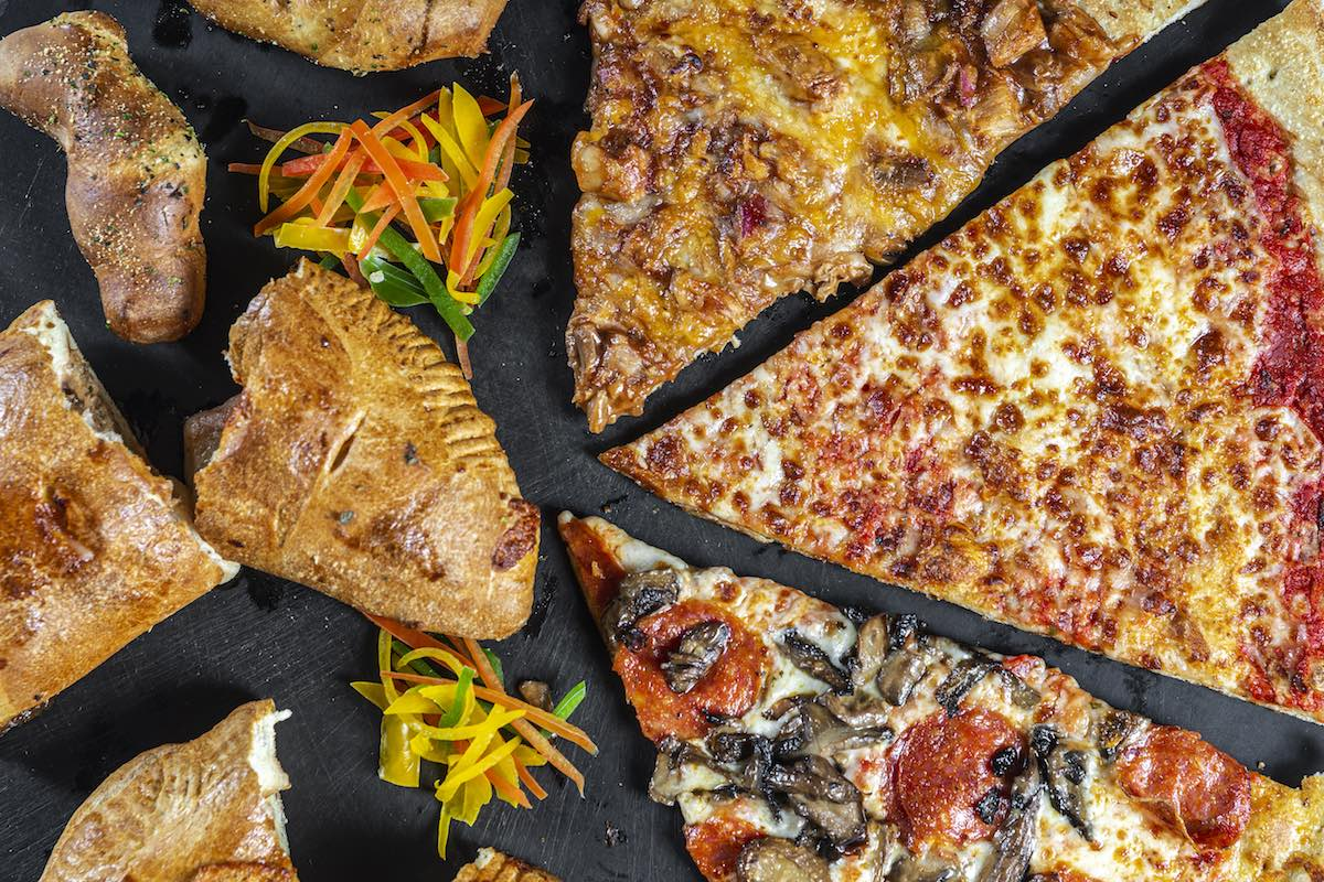 pizza and calzones