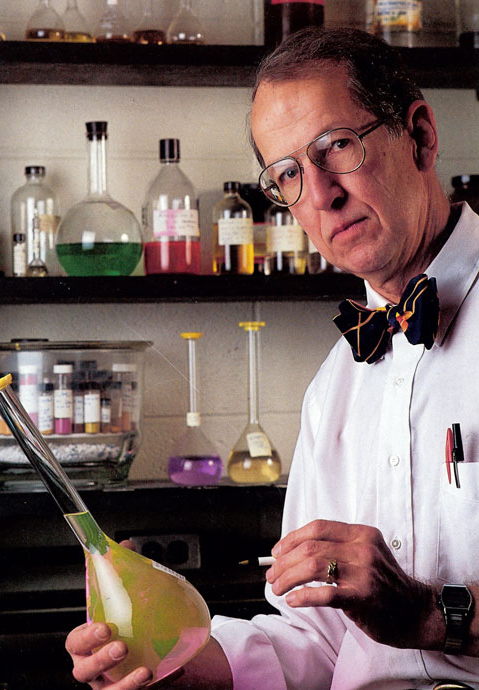 John Chesick in lab