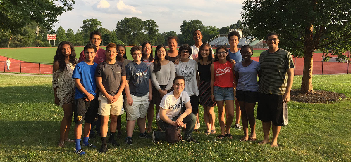 Chesick Scholars posing on Haverford's campus
