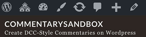 Screenshot of Commentary Sandbox website