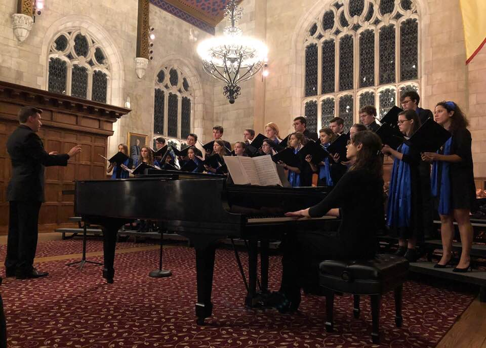 chamber singers rehearsing at bryn mawr college
