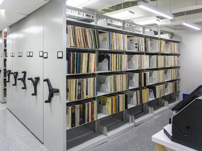 Harris Music Library stacks