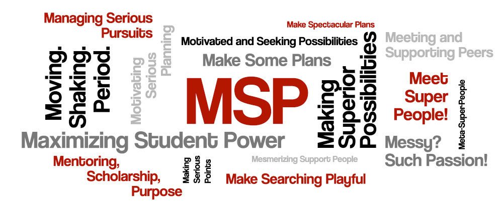 MSP can stand for a number of things, such as Maximing Student Power!