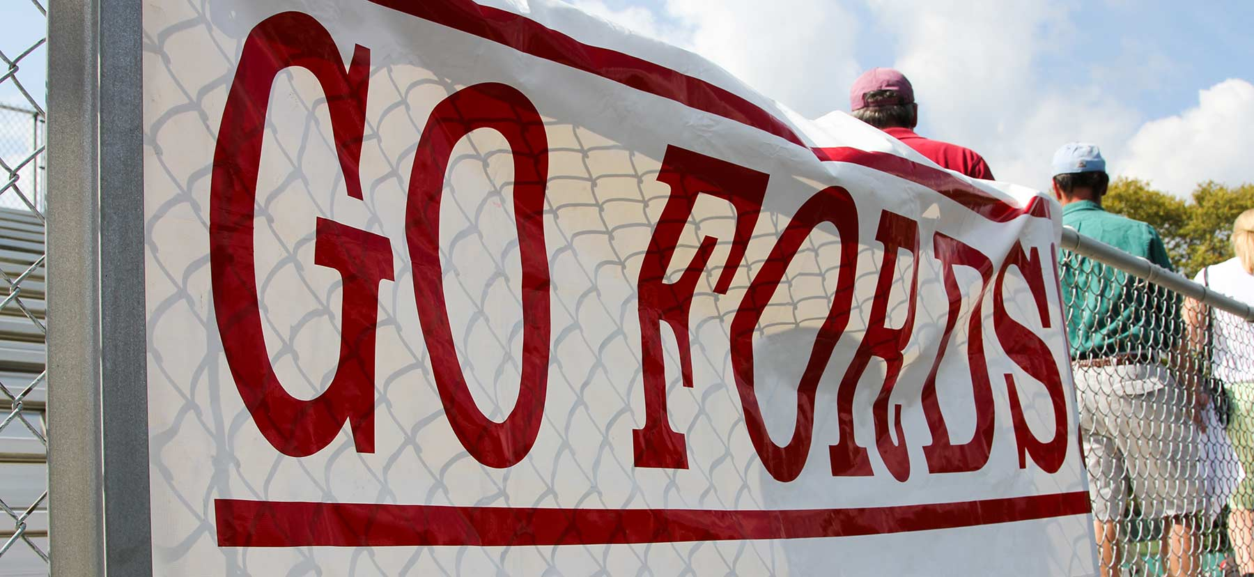 Sign reading Go Fords!