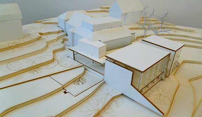 A model of Phase 1 of construction.