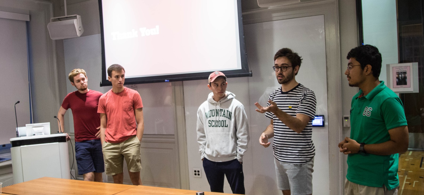 Students present their work during the Trico Hackathon