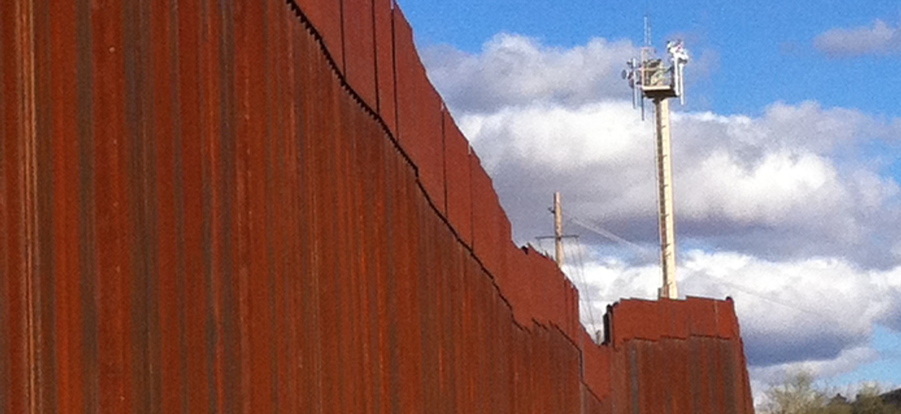 The border fence at Nogales.