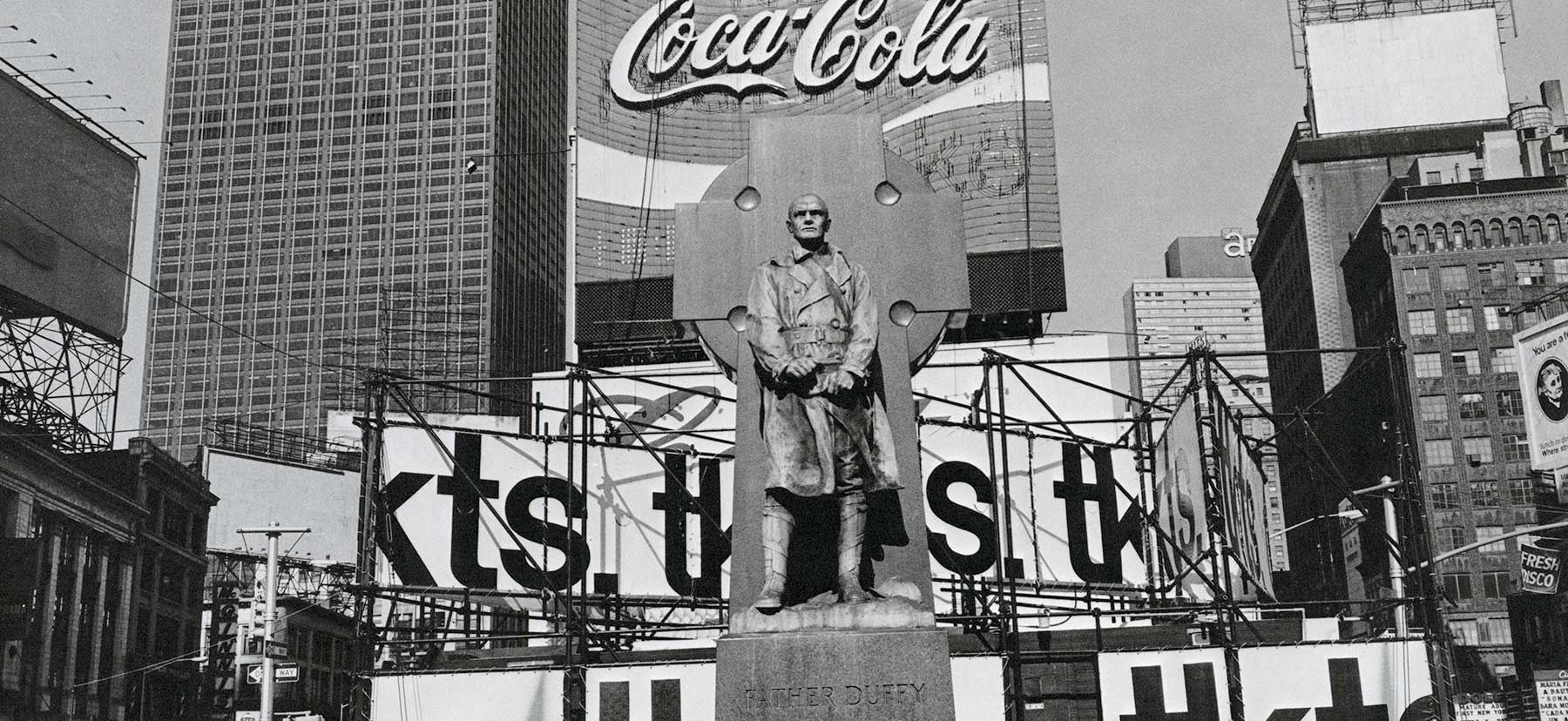 Lee Friedlander, Father Duffy. Times Square, New York.