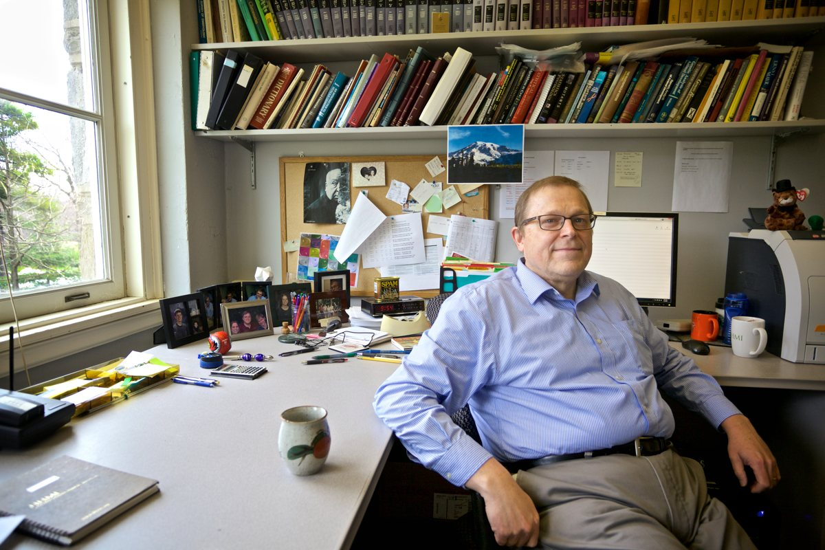 Professor Philip Meneely in office