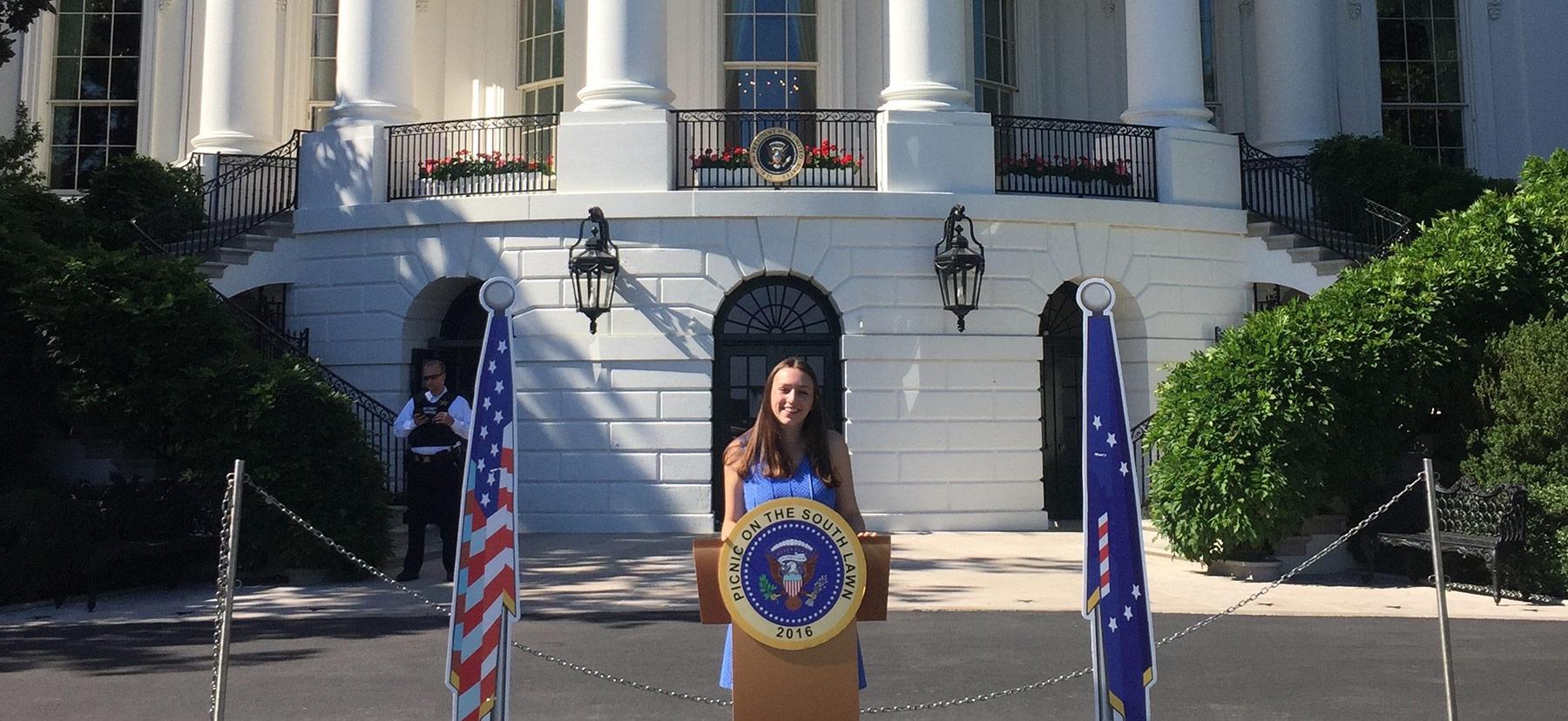 Eleni Smitham '19 at the White House