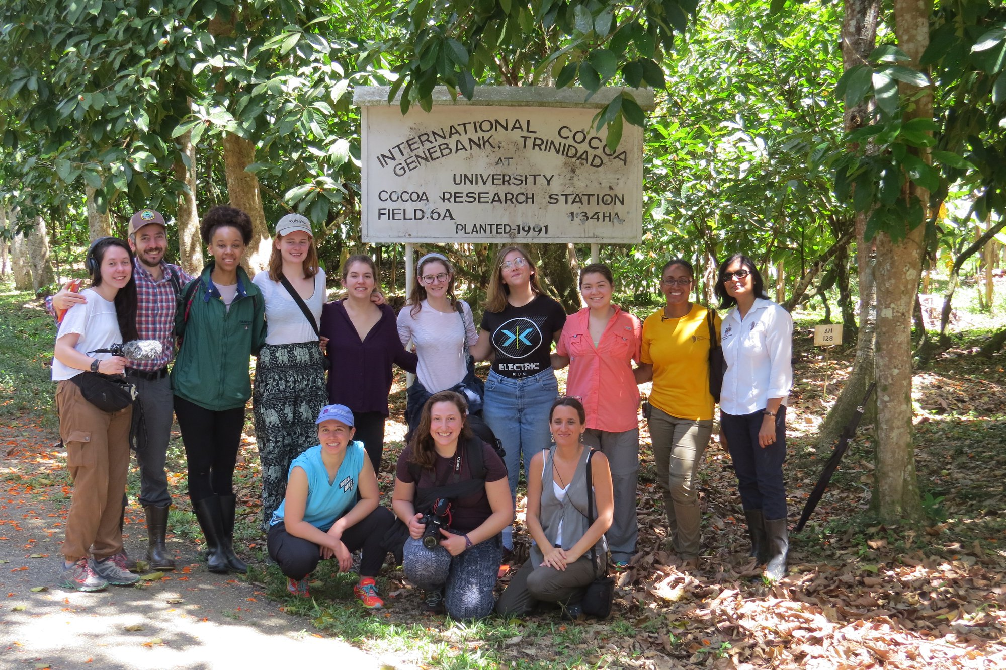 Members of the Economic Botany out in the field in Trinidad