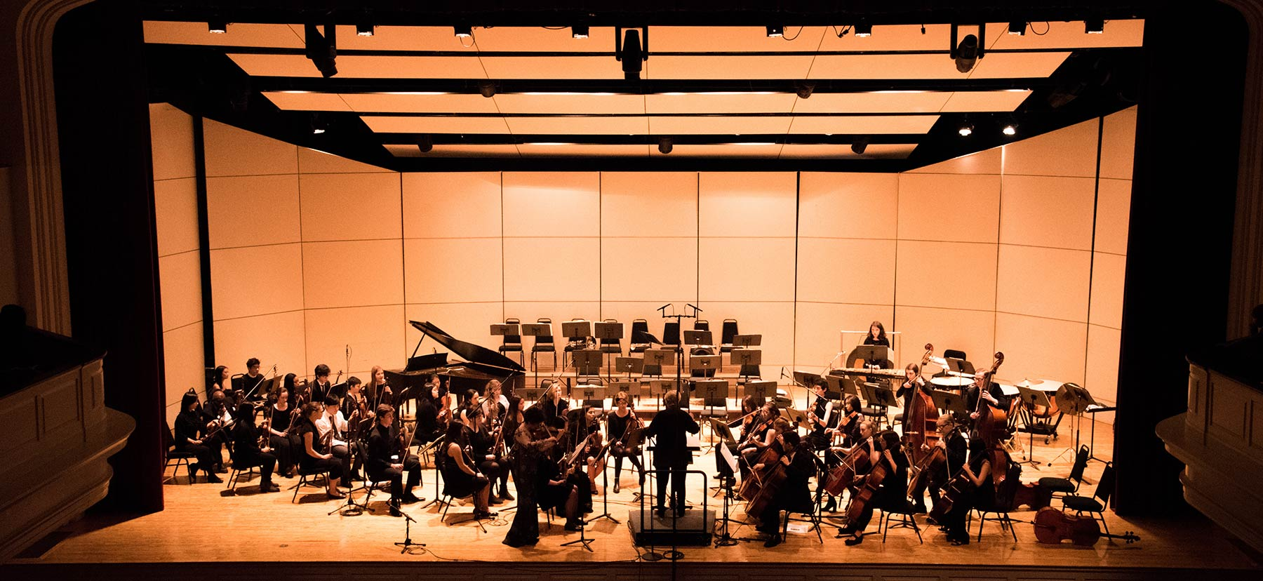 The Bi-College Orchestra performing