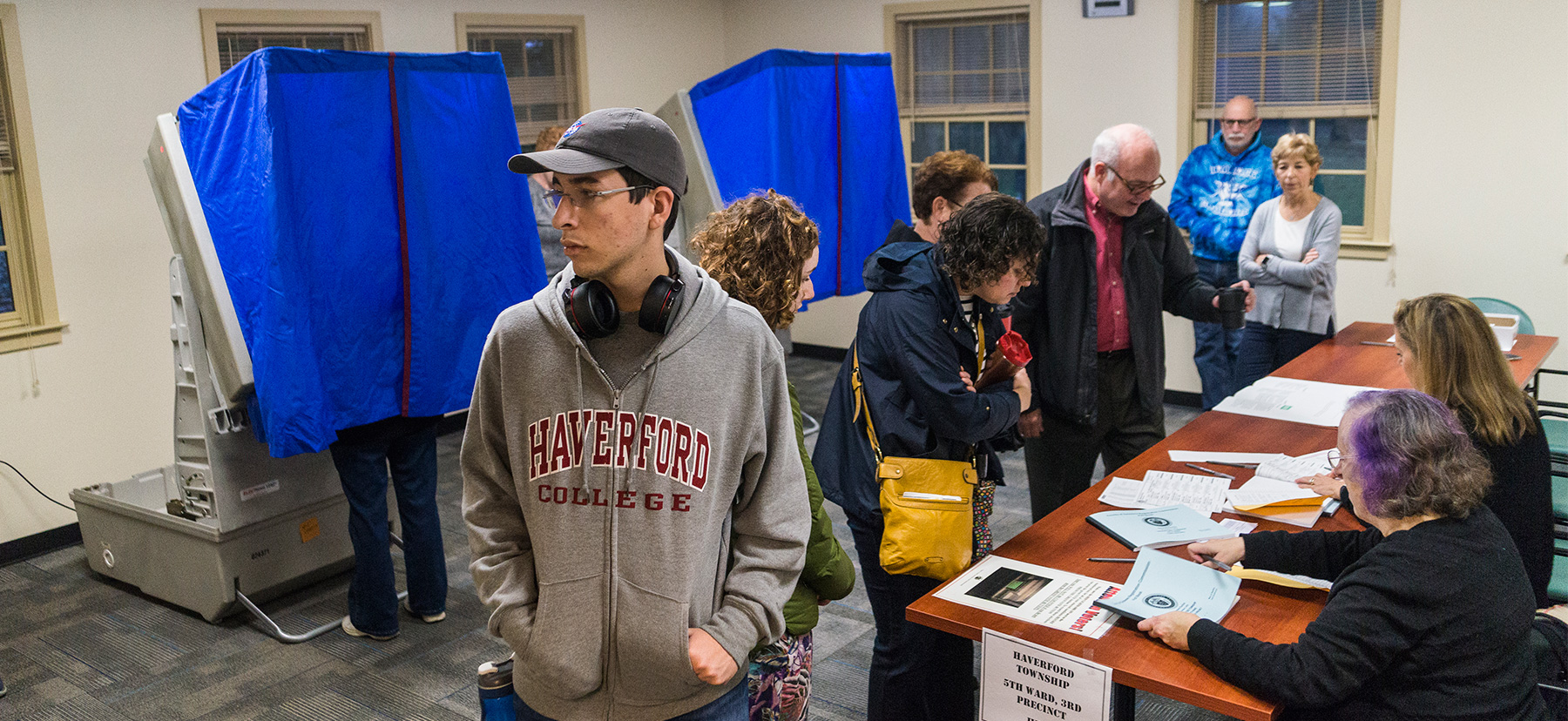 Haverford College Polling Location