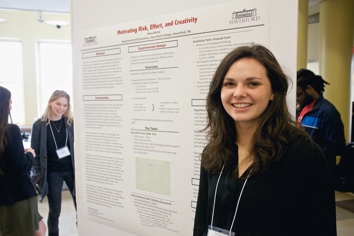 Nina Mutty '16 presents her research