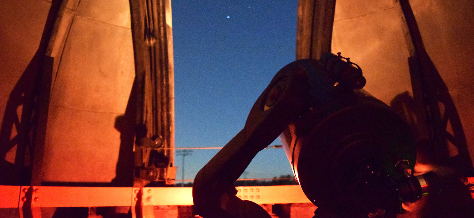 A telescope in the observatory