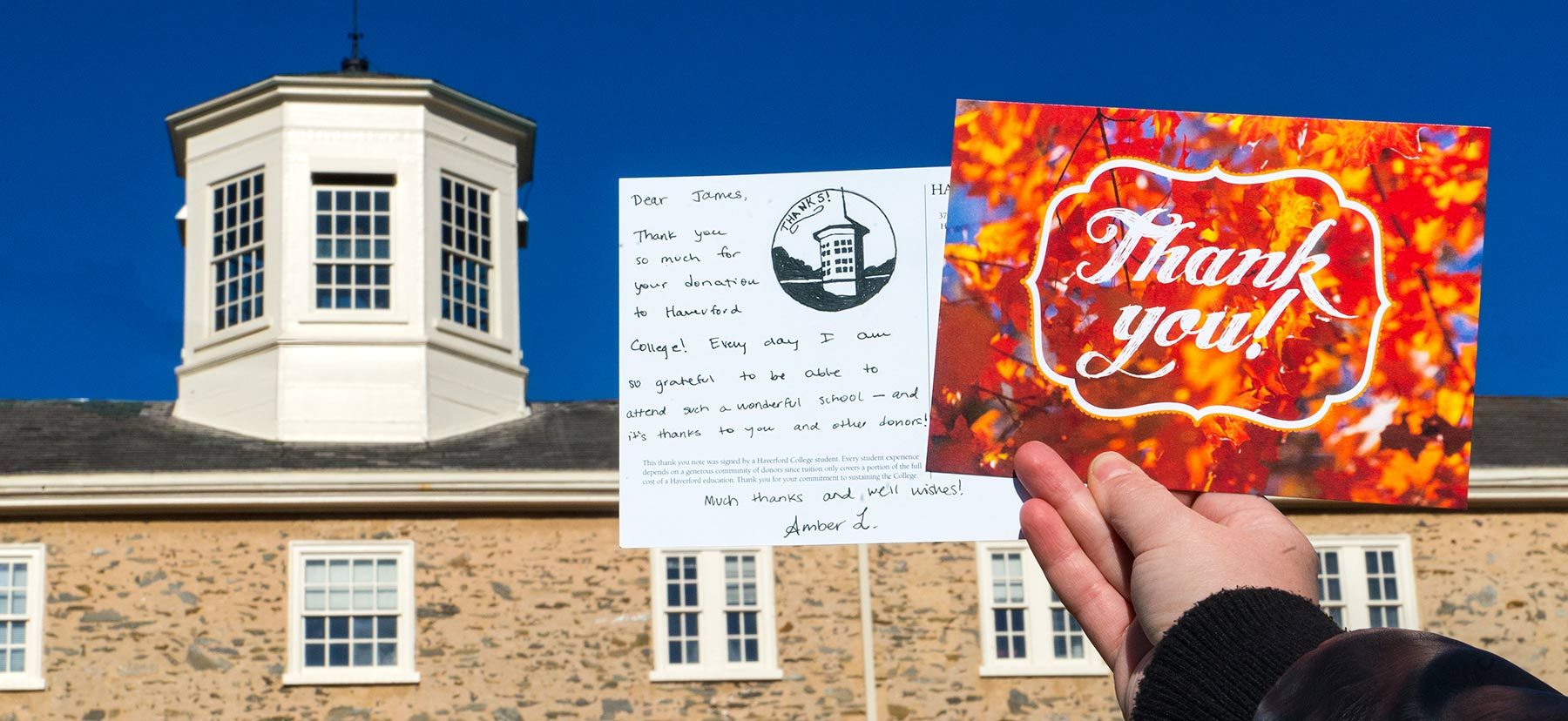 Thank You card for donor