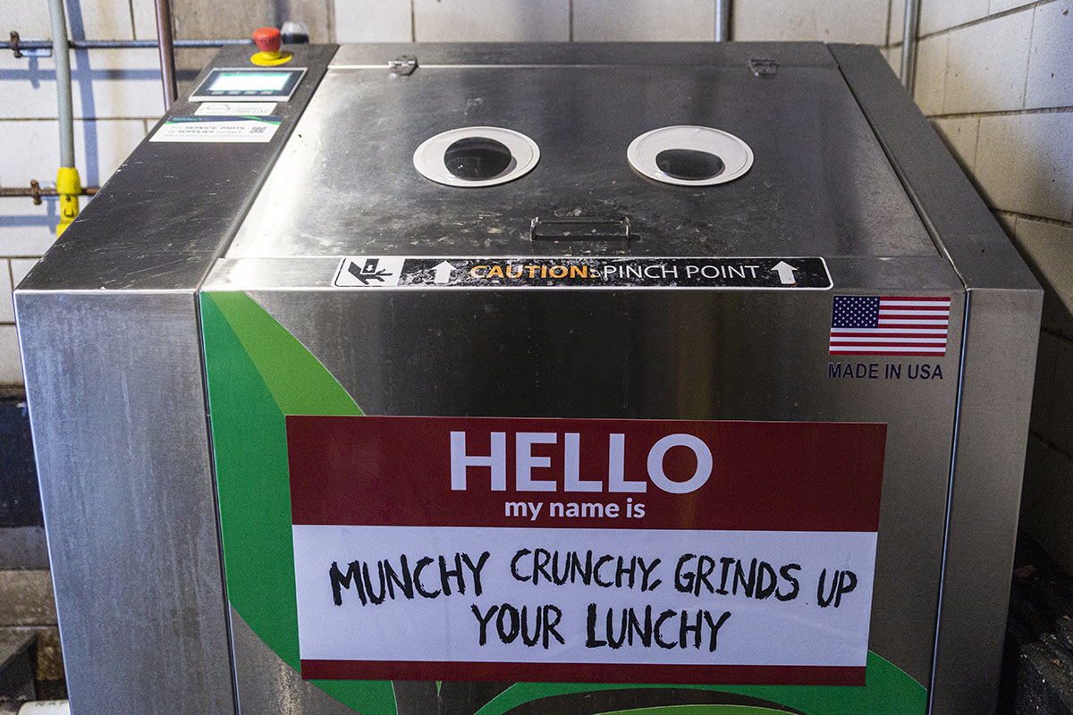 biohitech sprout digester decorated with a nametag and googly eyes