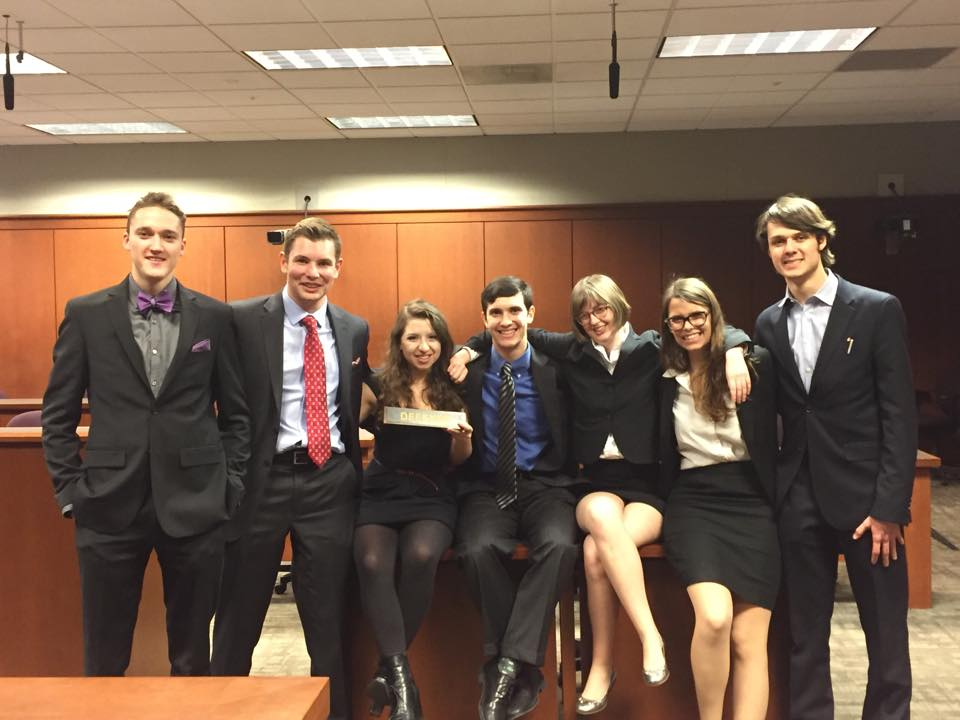 Mock Trial Group posing together