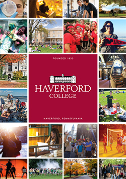 Cover of the Haverford College Brochure