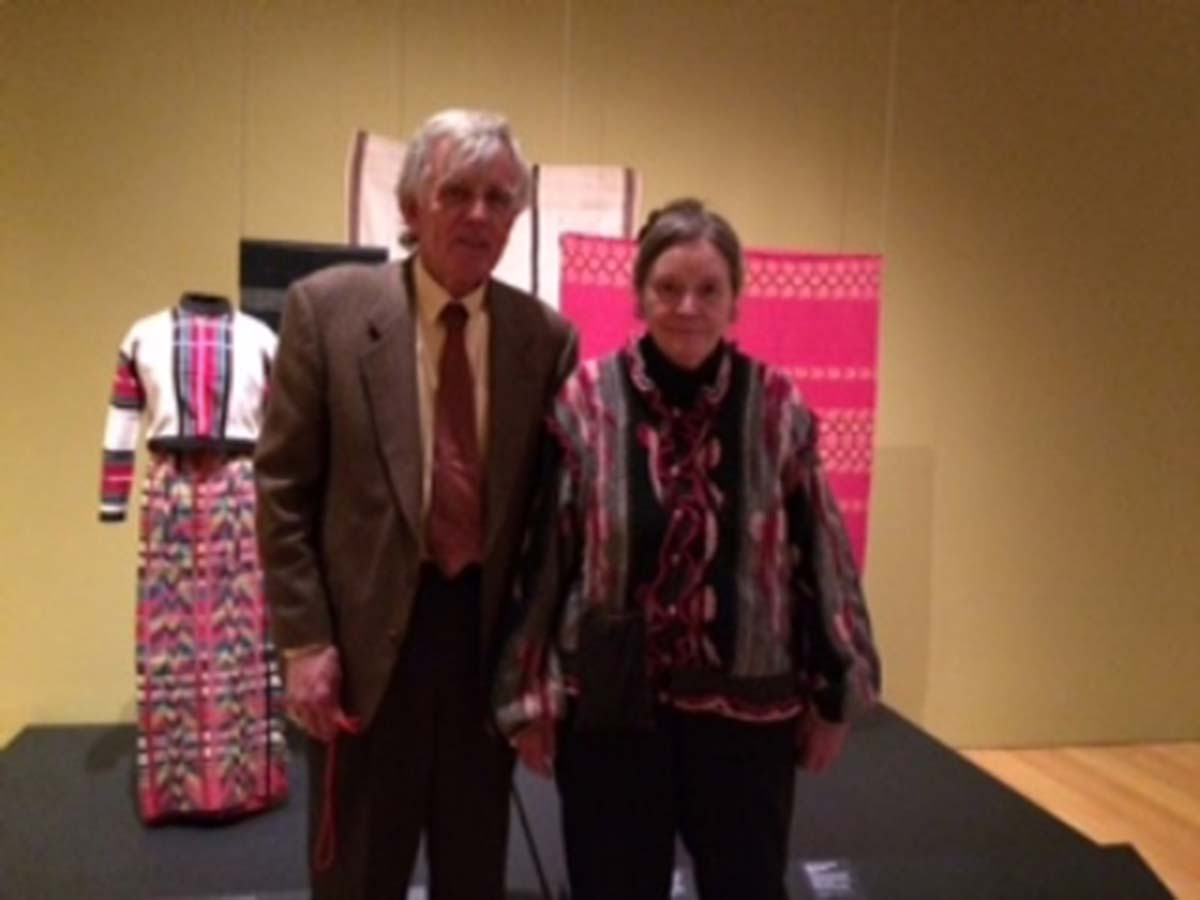 David and Barbara Fraser in a museum