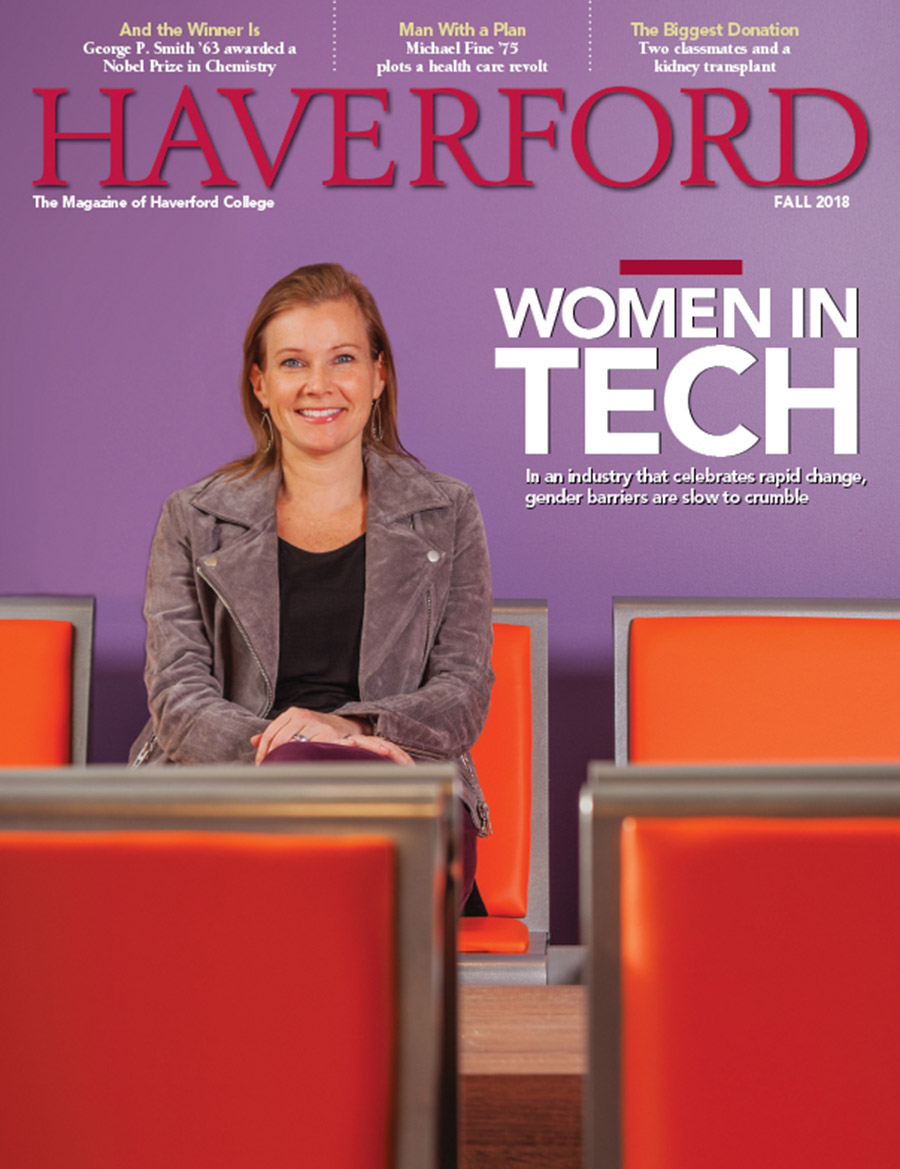 Cover of Fall 2018 issue of HAVERFORD magazine