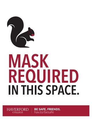 Mask required in this space poster