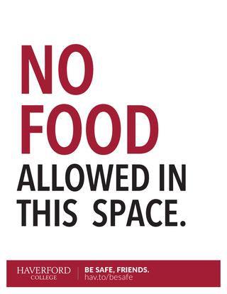 No Food in this Space poster