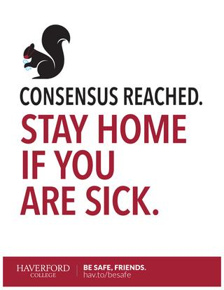 Stay Home if You Are Sick poster