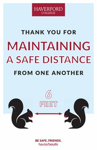 Thank You for Keeping a Safe Distance poster