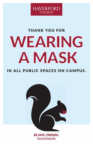 Thanks for Wearing Your Mask poster