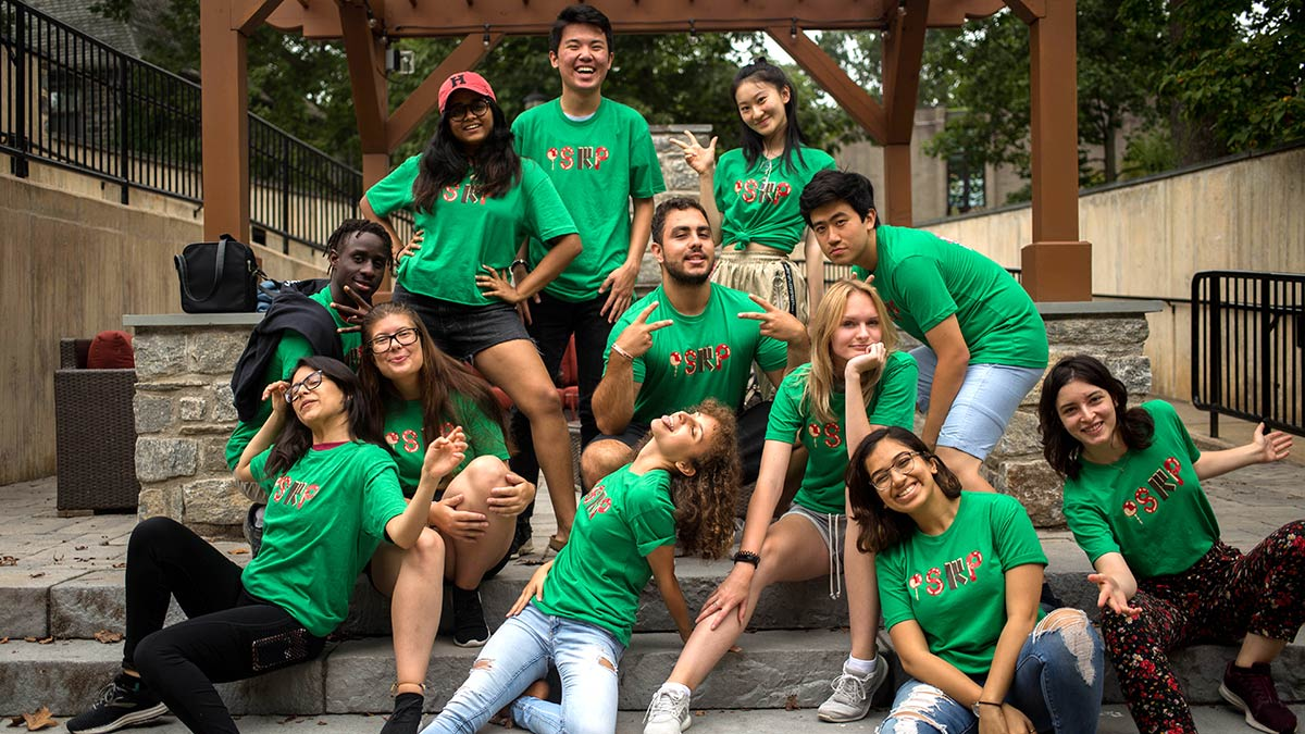international student resource people posing together