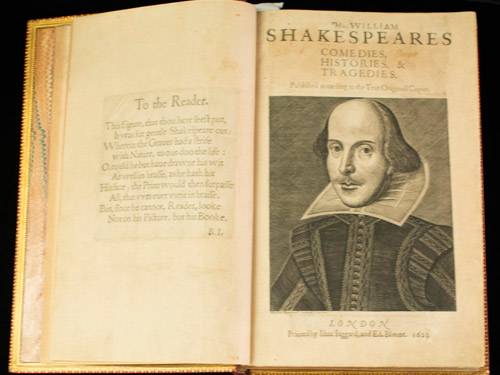 Photograph of a Shakespearean manuscript