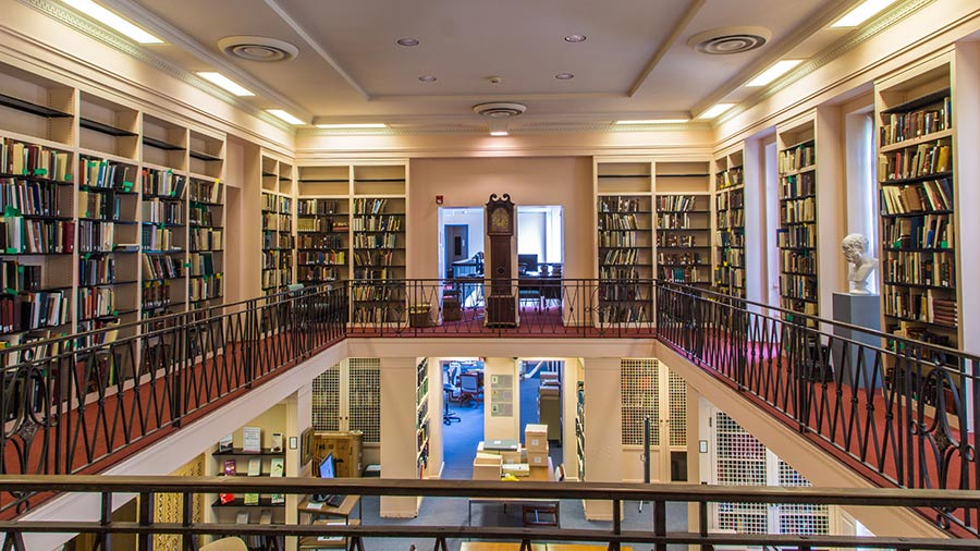 An interior shot of special collections