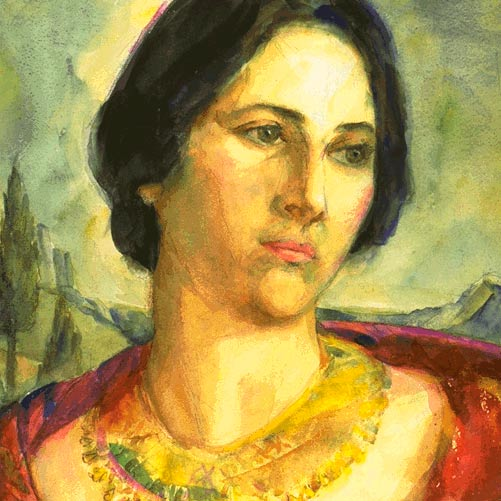 Painting of Margaret Gest
