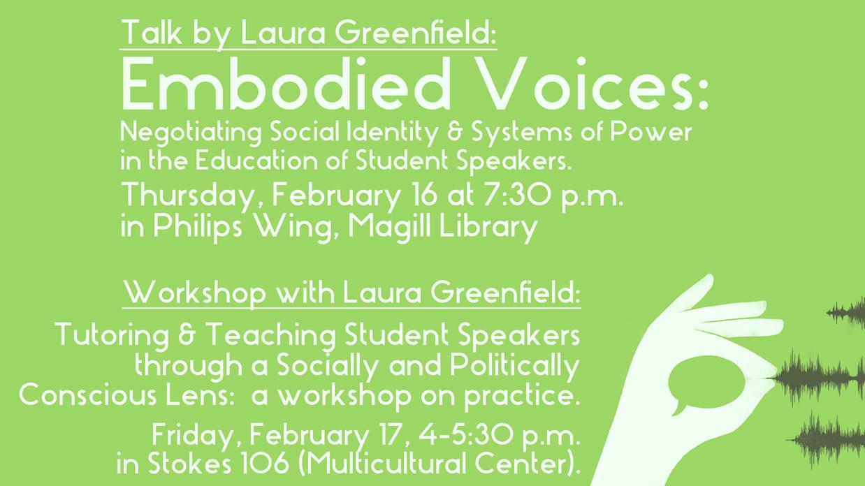 Laura Greenfield Talk & workshop