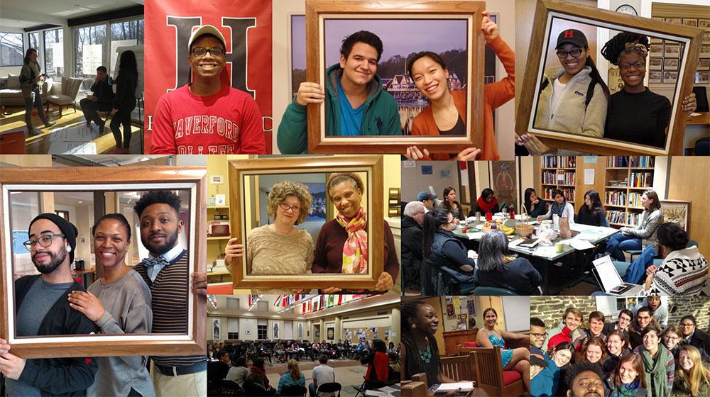 Photo montage of OMA staff and students