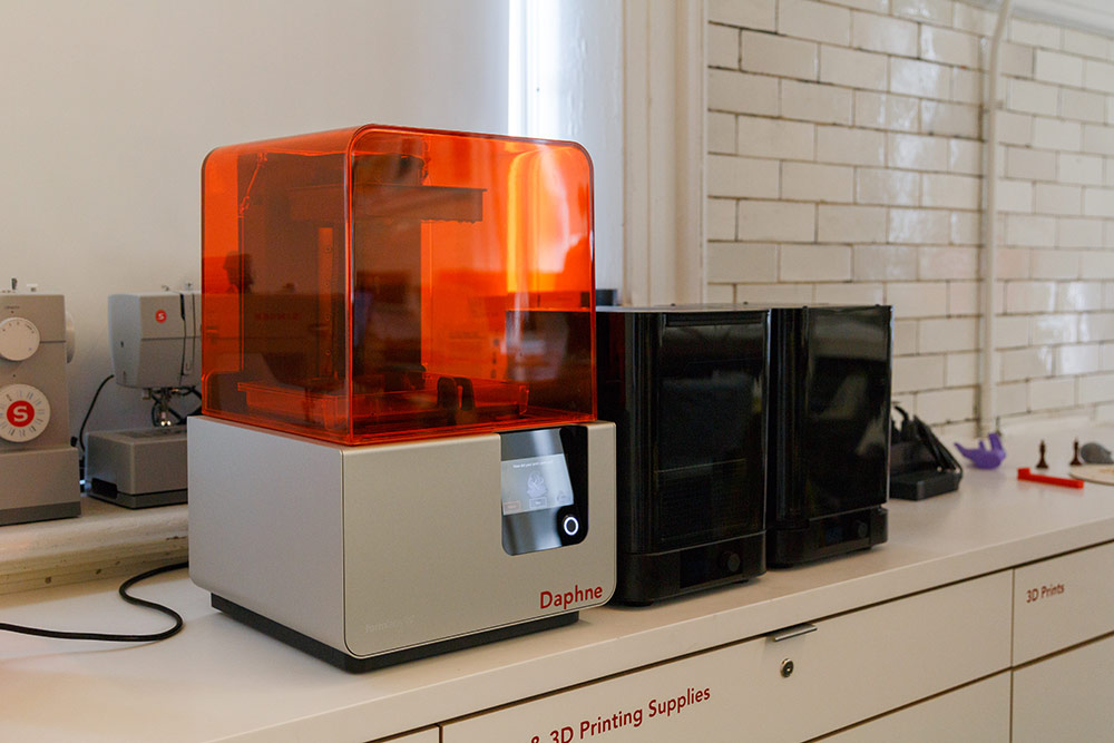 The Form 2 Resin Printer is named Daphne